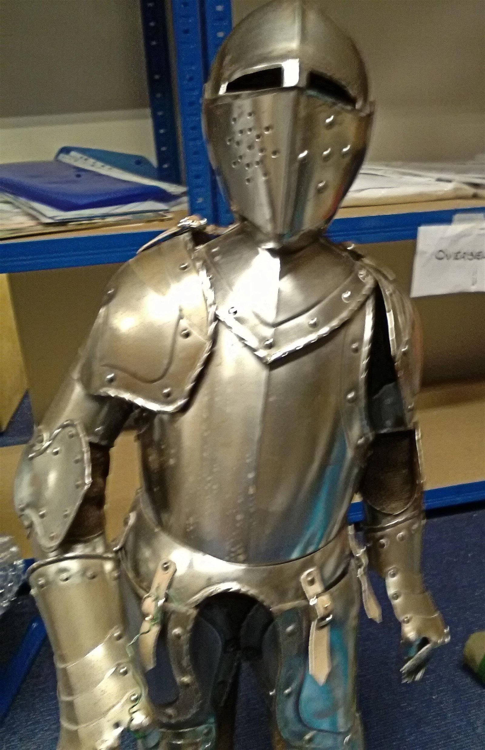 Unique rare Miniature suit of Armour a model used to