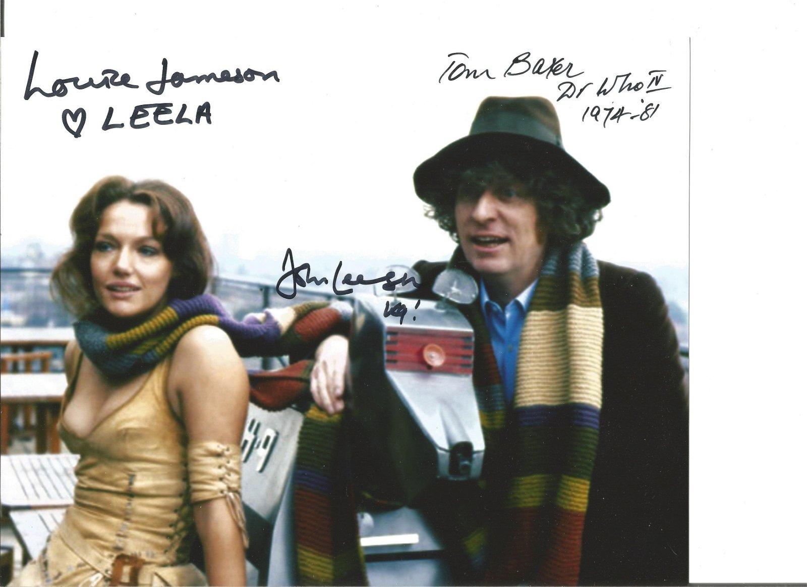 Doctor Who Tom Baker, Louise Jameson and John Leeson
