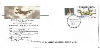 WW2 rare Dambuster Raid veteran Steve Oancia signed