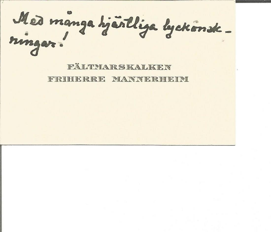 Mannerheim, Carl Gustav Emil (1867-1951). President of