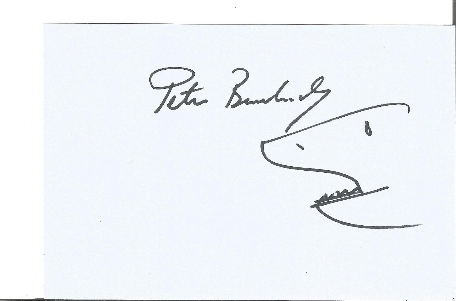 Peter Benchley signed Shark Doodle Jaws director on