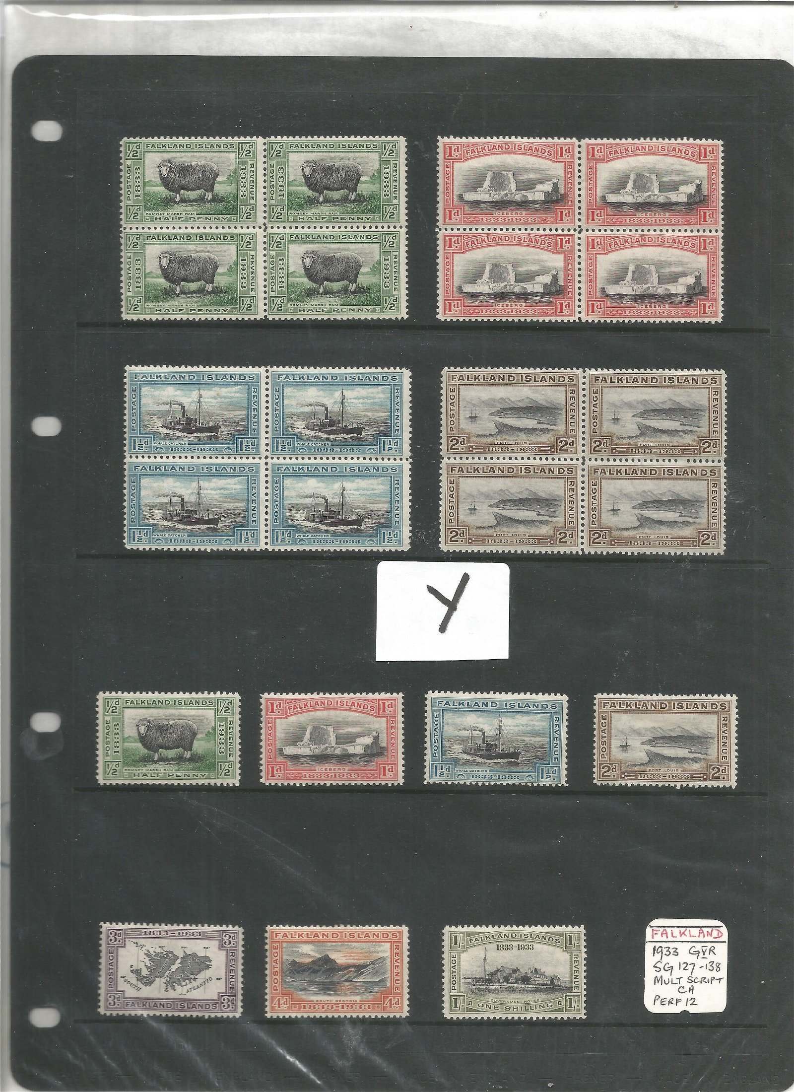 Falkland Islands mint stamp collection. 28 stamps.