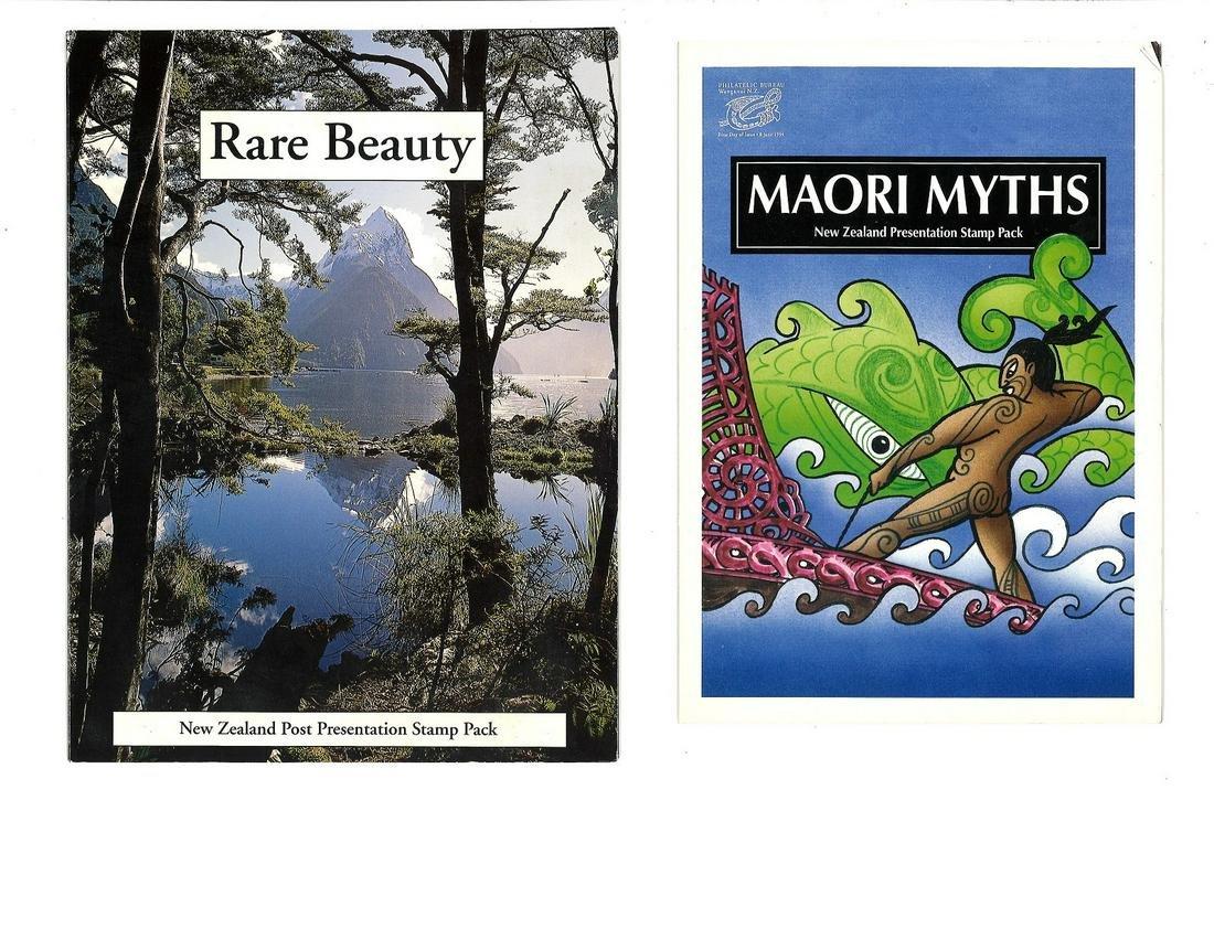 Presentation pack collection. 2 NZ packs. Miniature
