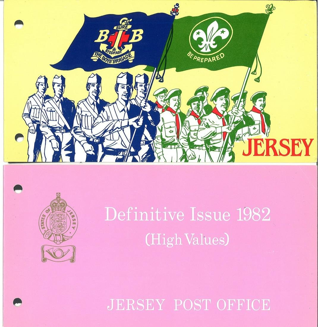 Jersey collection. Includes 7 FDC's, 4 presentation