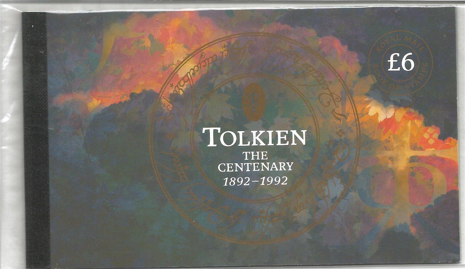 Royal Mail complete prestige stamp booklet, Tolkien the