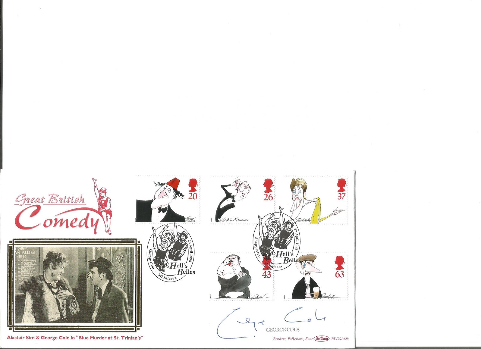 George Cole 1998 Comedy Hell's Belles blcs142b. Signed