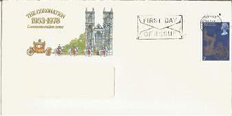 The Coronation 1953 - 1978 Commemorative cover unsigned