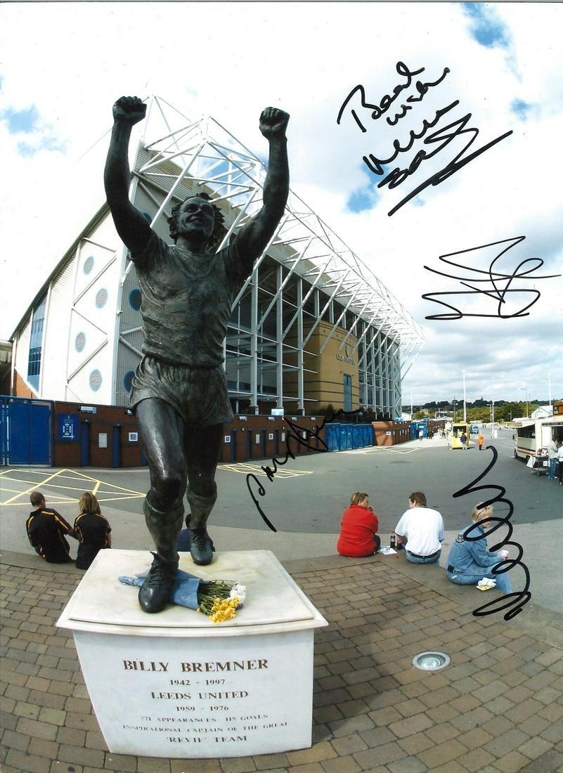 B Leeds multi Leeds United Signed 16 X 12 inch football