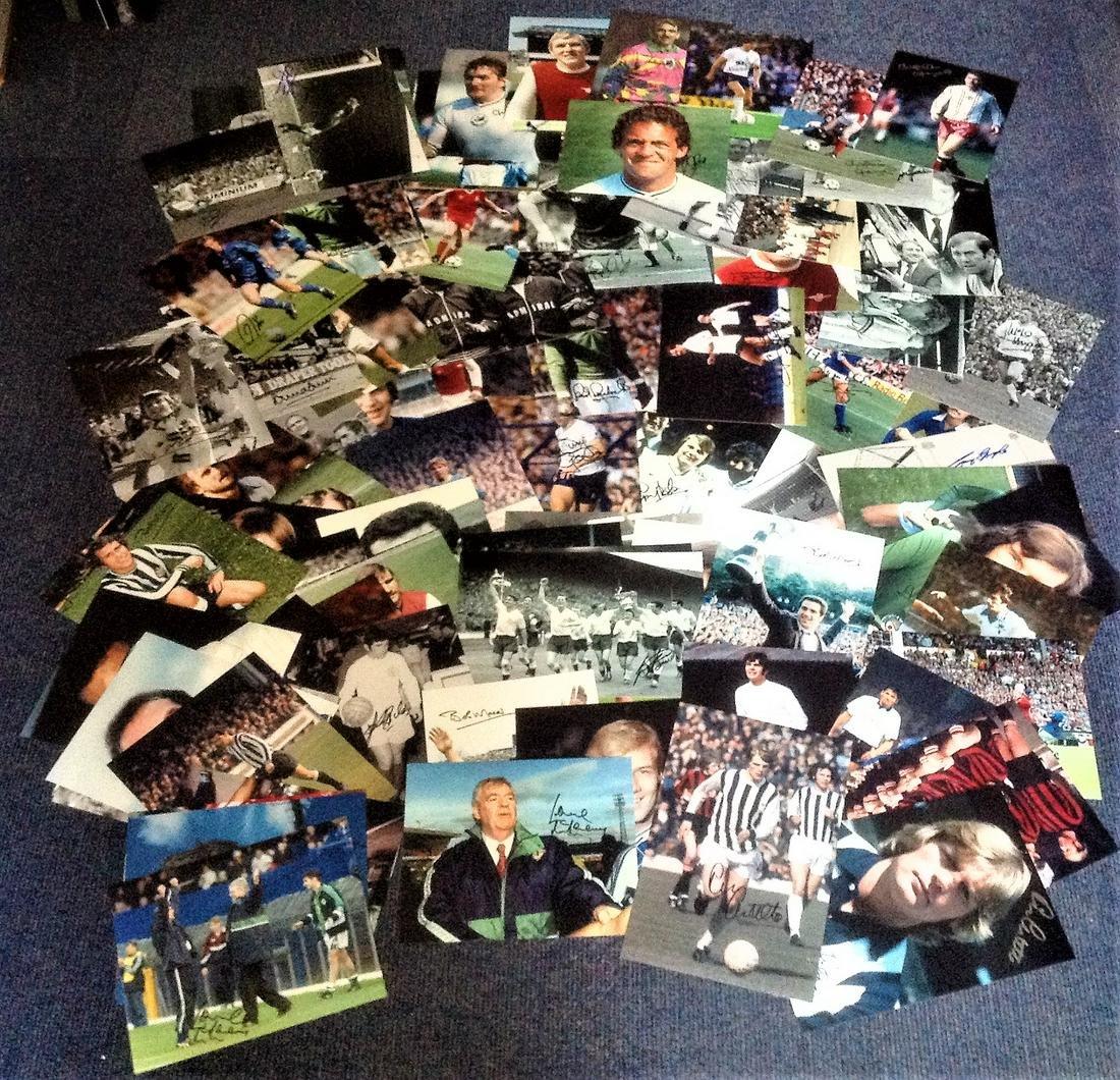 Football collection 100 fantastic signed photos from