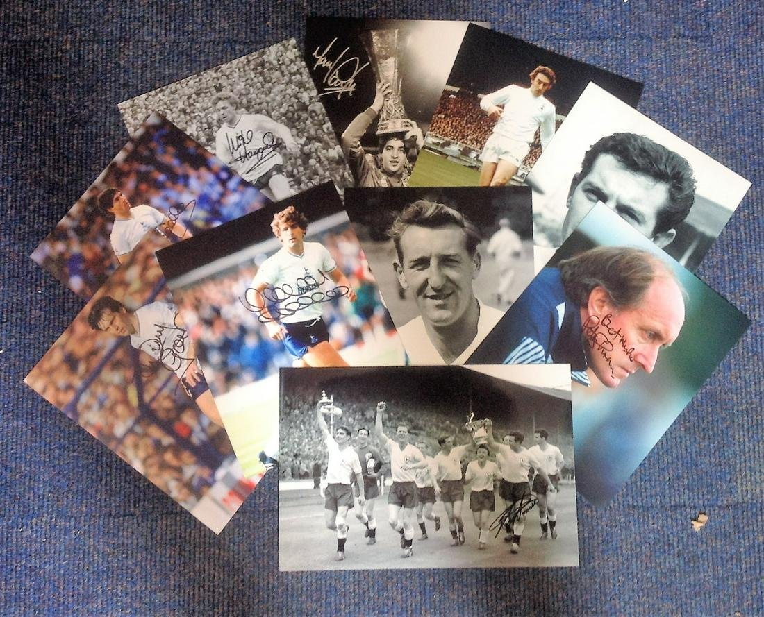 Football Spurs collection 10 signed photos from some