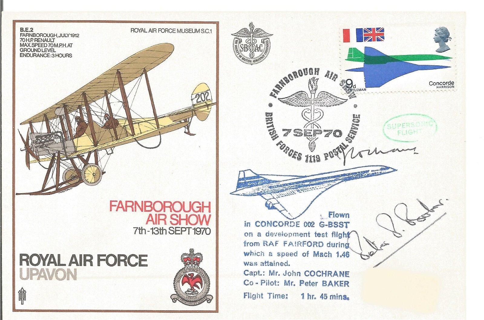 Concorde captains John Cochrane and Peter Baker double