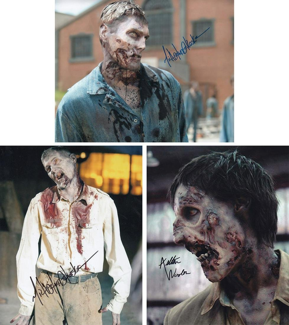 Blowout Sale! Lot of 3 Walking Dead hand signed 10x8