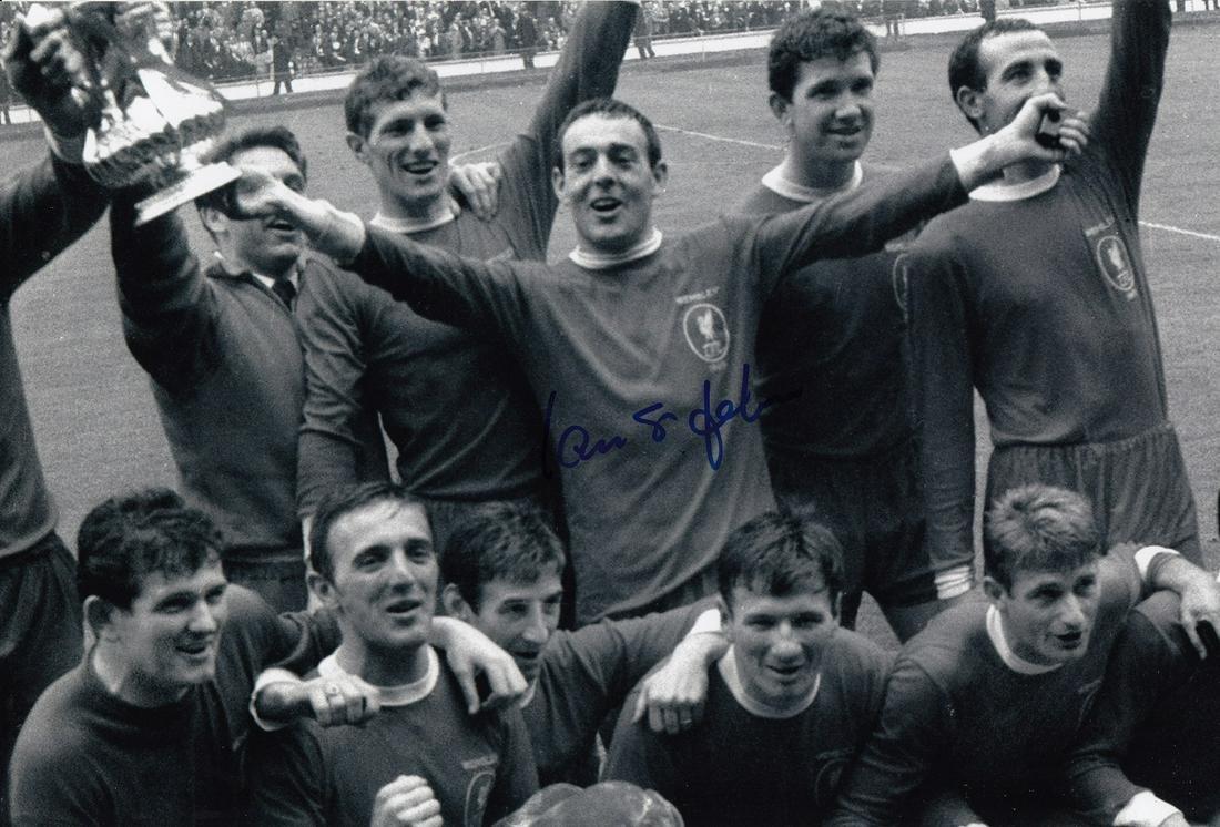 Ian St. John Football Autographed 12 X 8 Photo, A