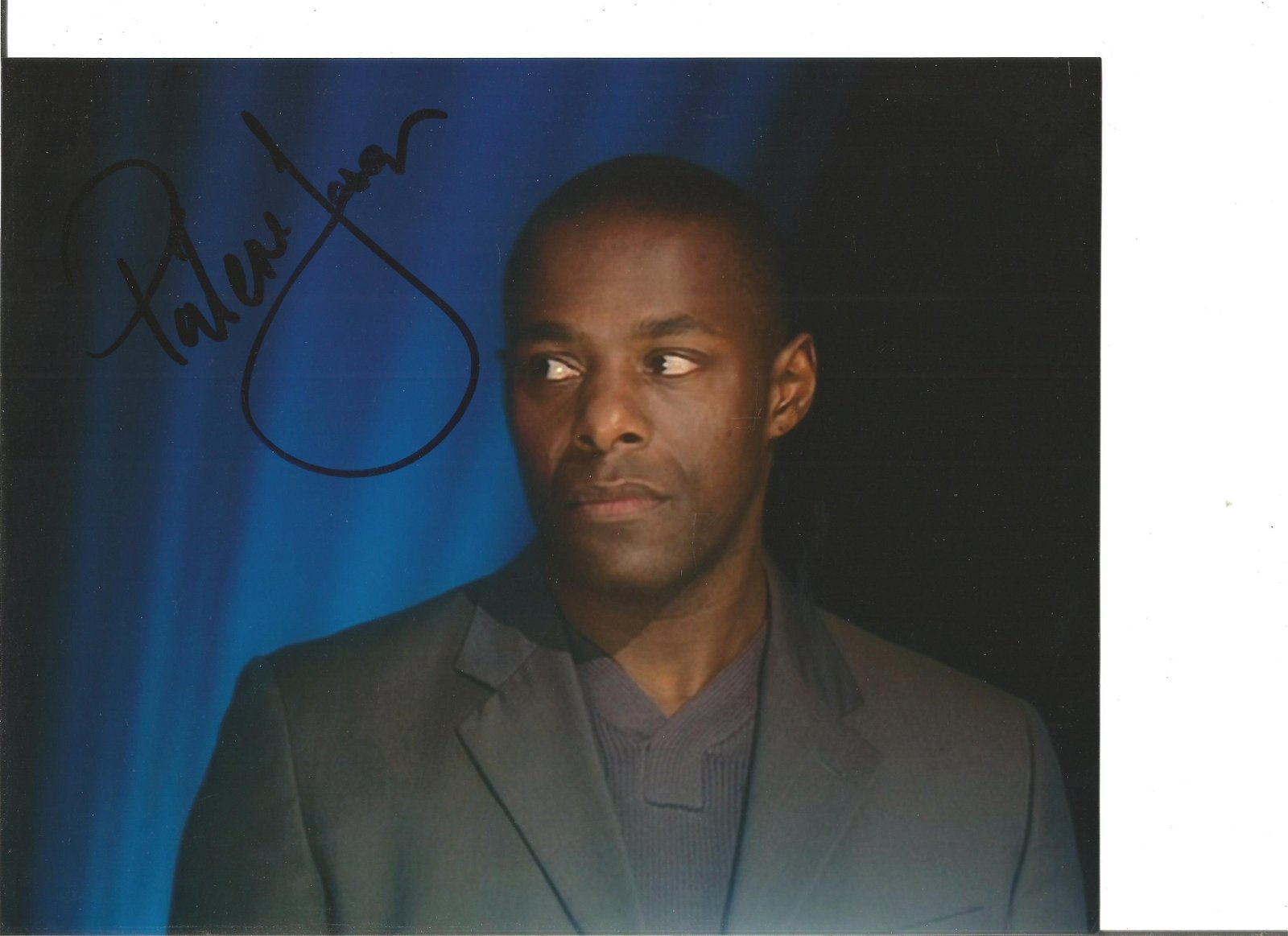 Paterson Joseph Actor Signed 8x10 Photo. Good