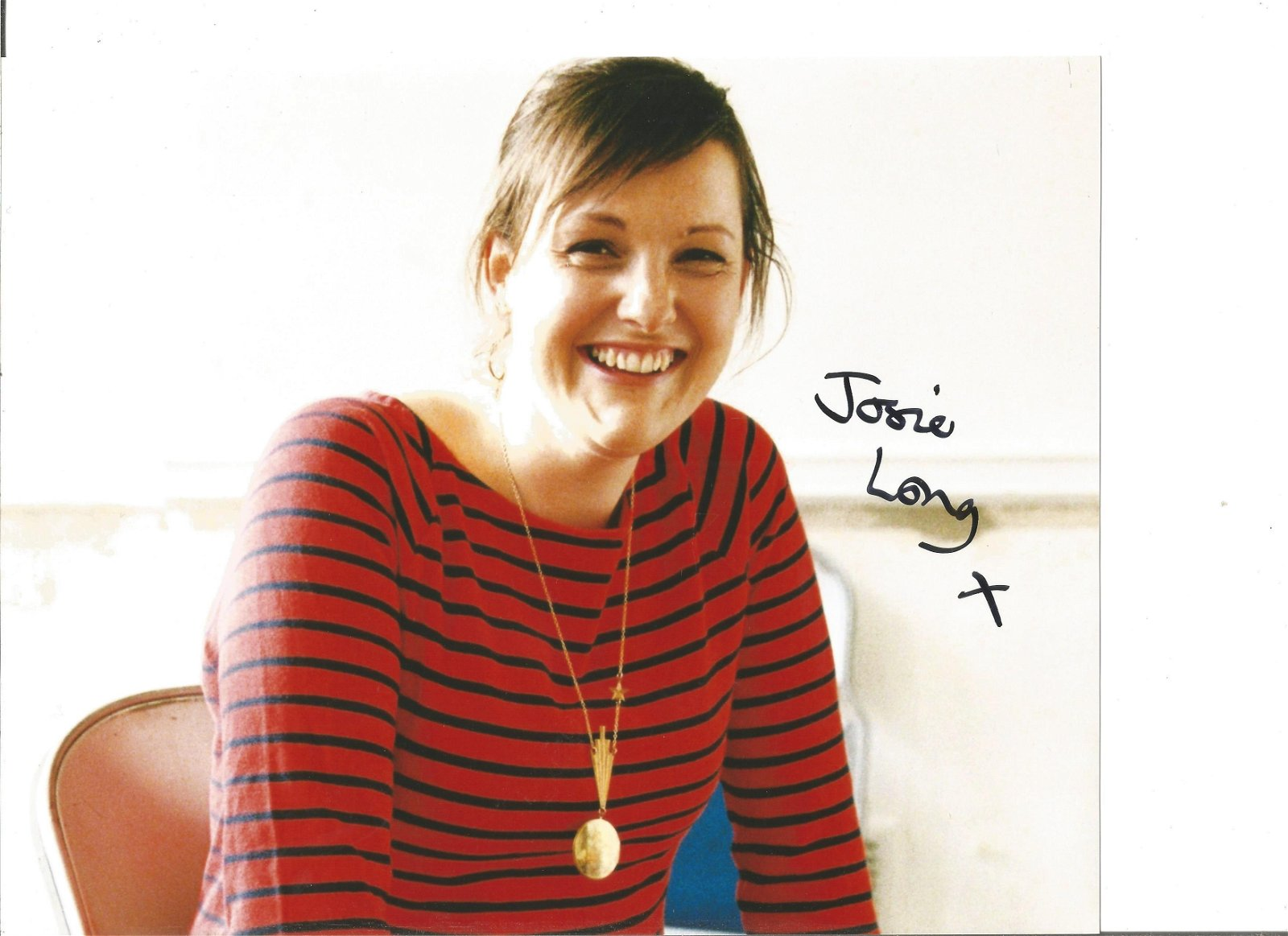 Josie Long Actress Signed 8x10 Photo. Good Condition.