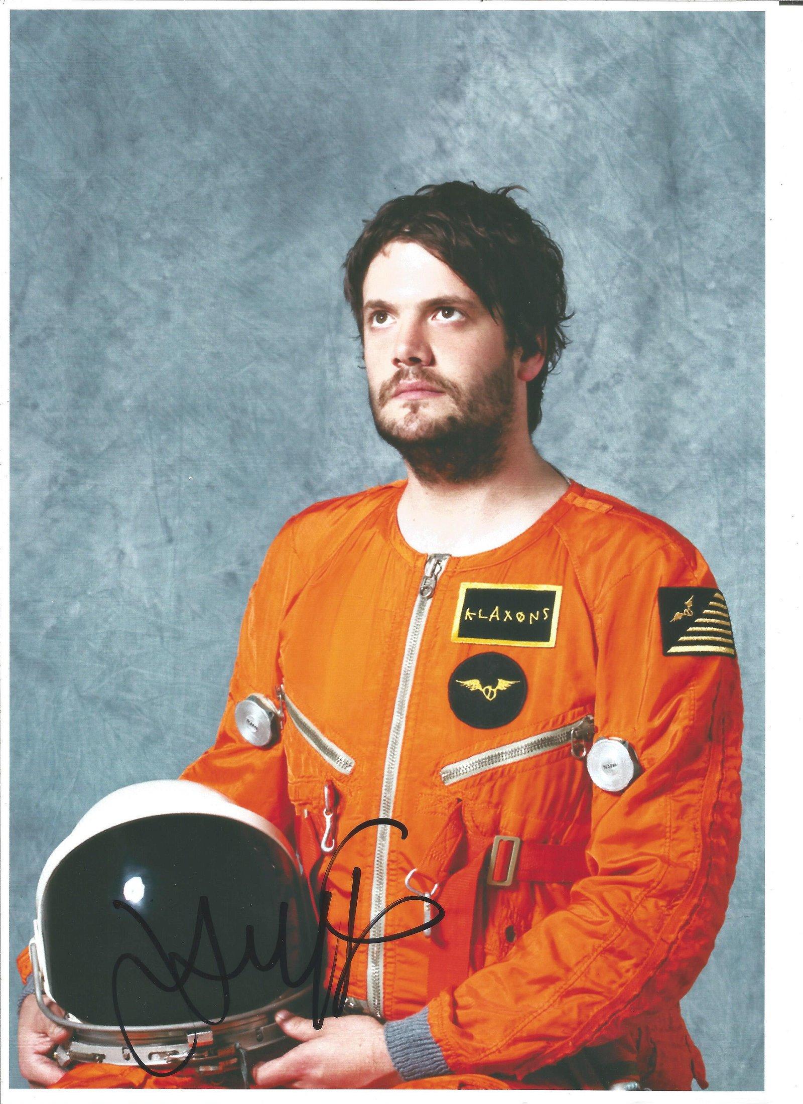 Jamie Reynolds Klaxons Singer Signed 8x12 Photo. Good