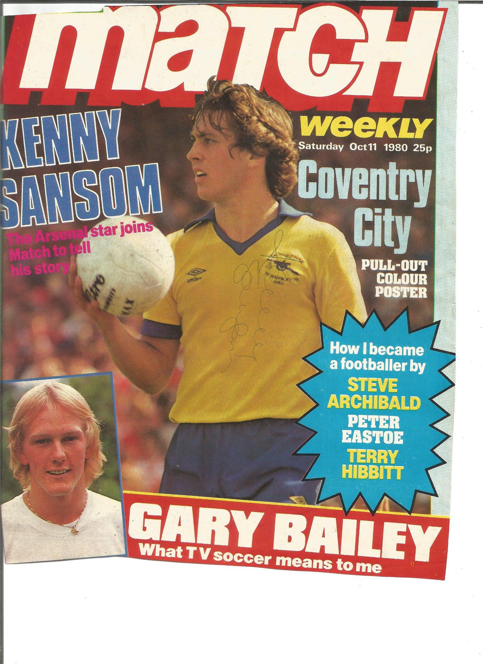 Arsenal Signed Magazine Pages Kenny Sansom, Alan Smith,