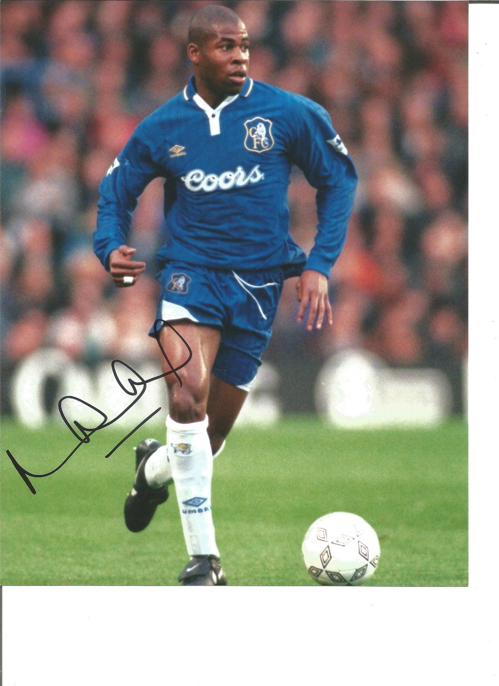 Michael Duberry Signed Chelsea 8x10 Photo. Good
