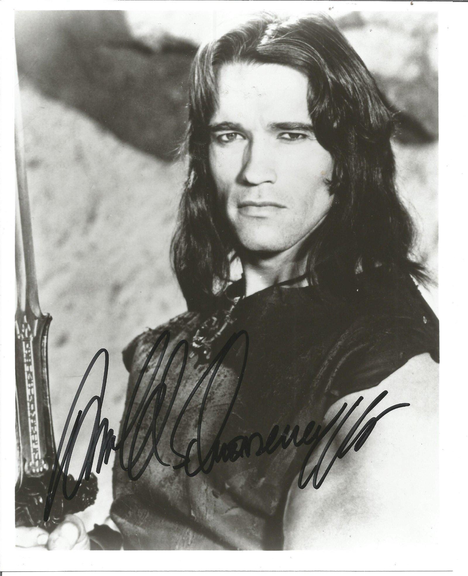 Arnold Schwarzenegger signed 10x8 black and white