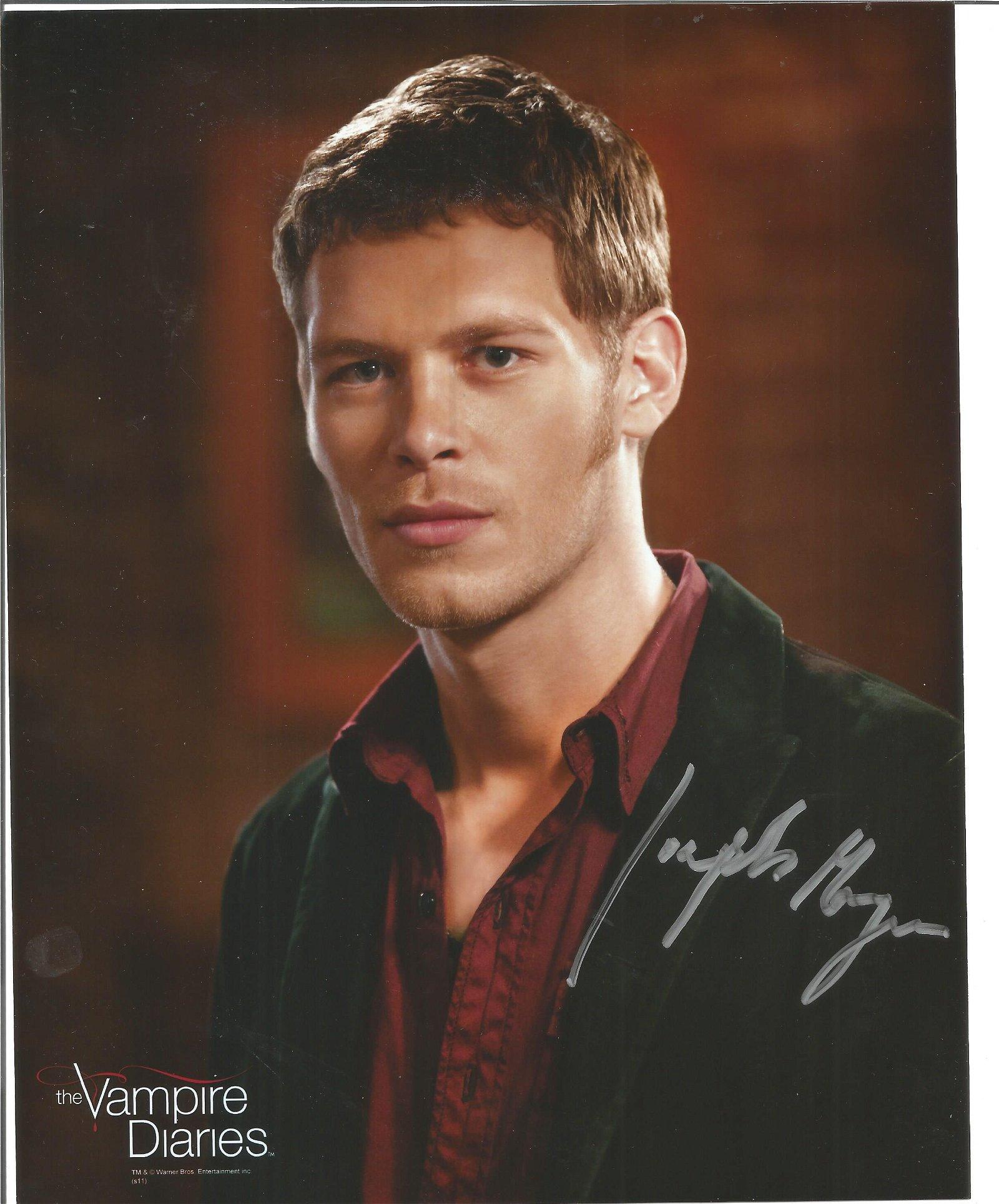 Joseph Morgan signed 10x8 colour photo from Vampire