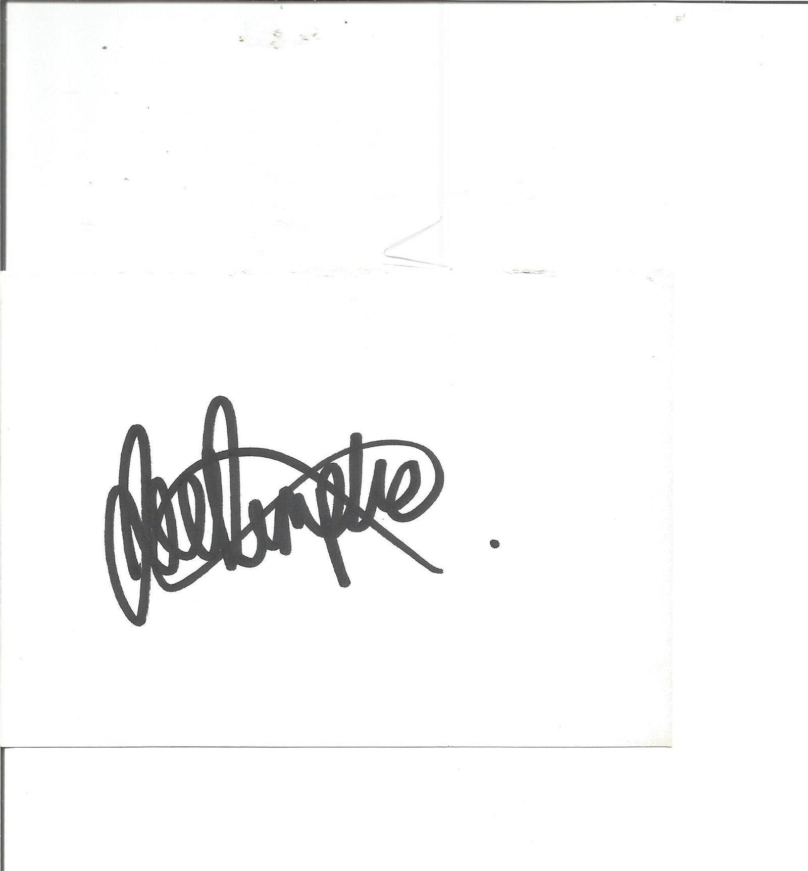 Joe Dempsie signed white card. Good Condition. All