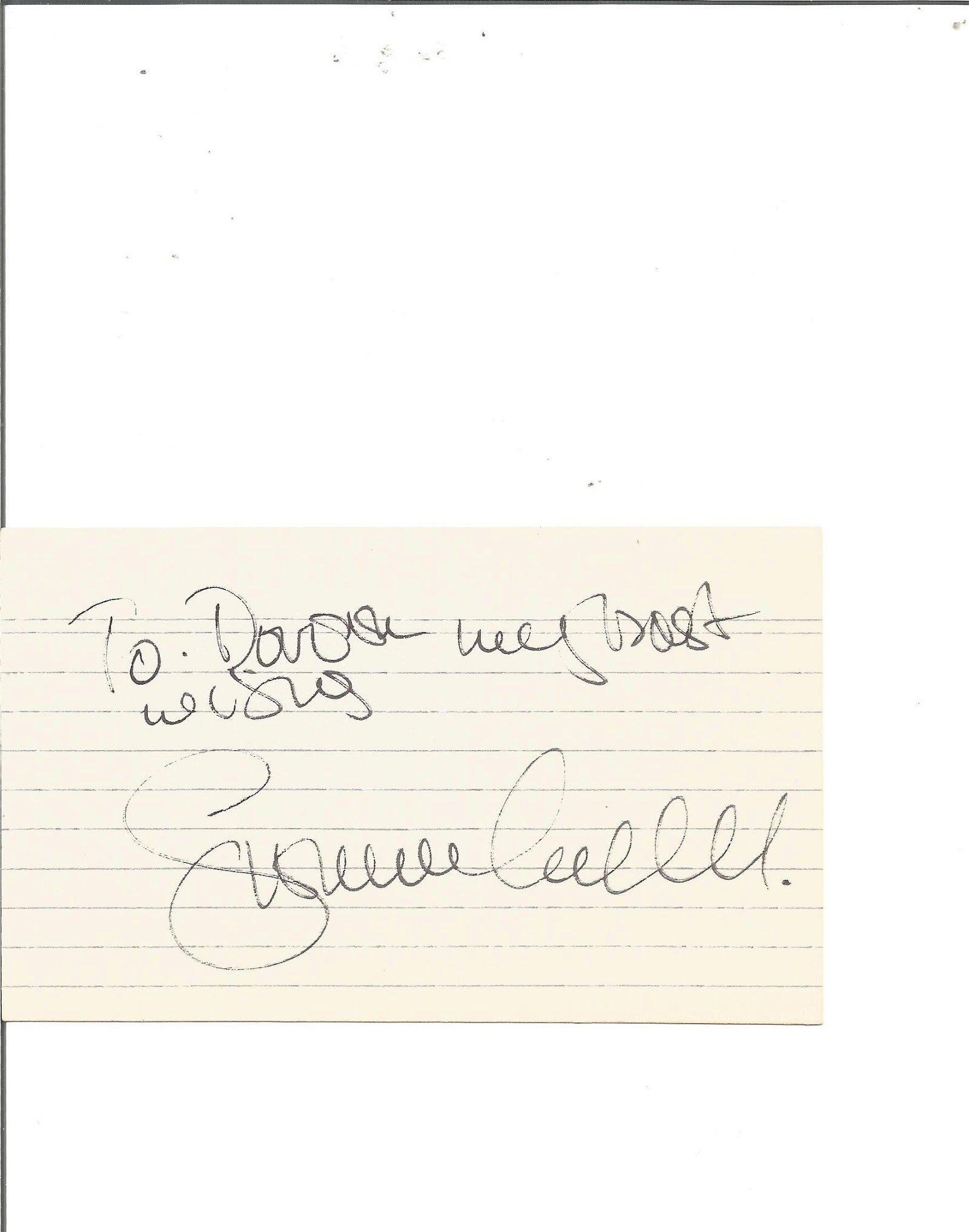 Simon Cadell signed card. Good Condition. All signed
