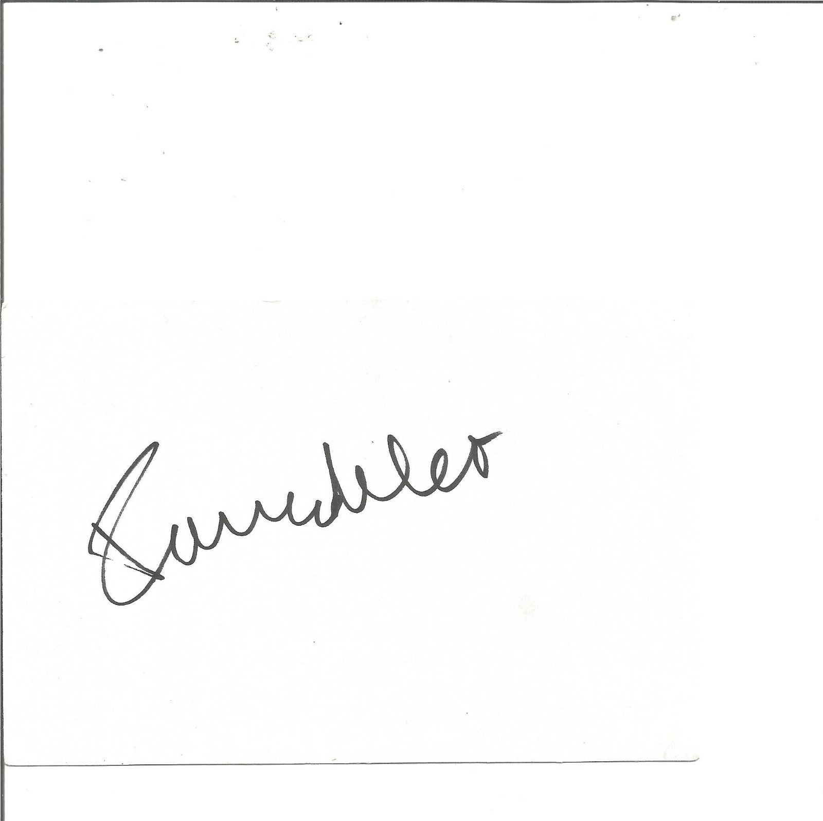 Zoe Wannamaker signed white card. Good Condition. All