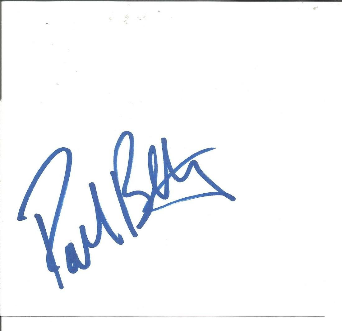 Paul Bettany signed white card. Good Condition. All