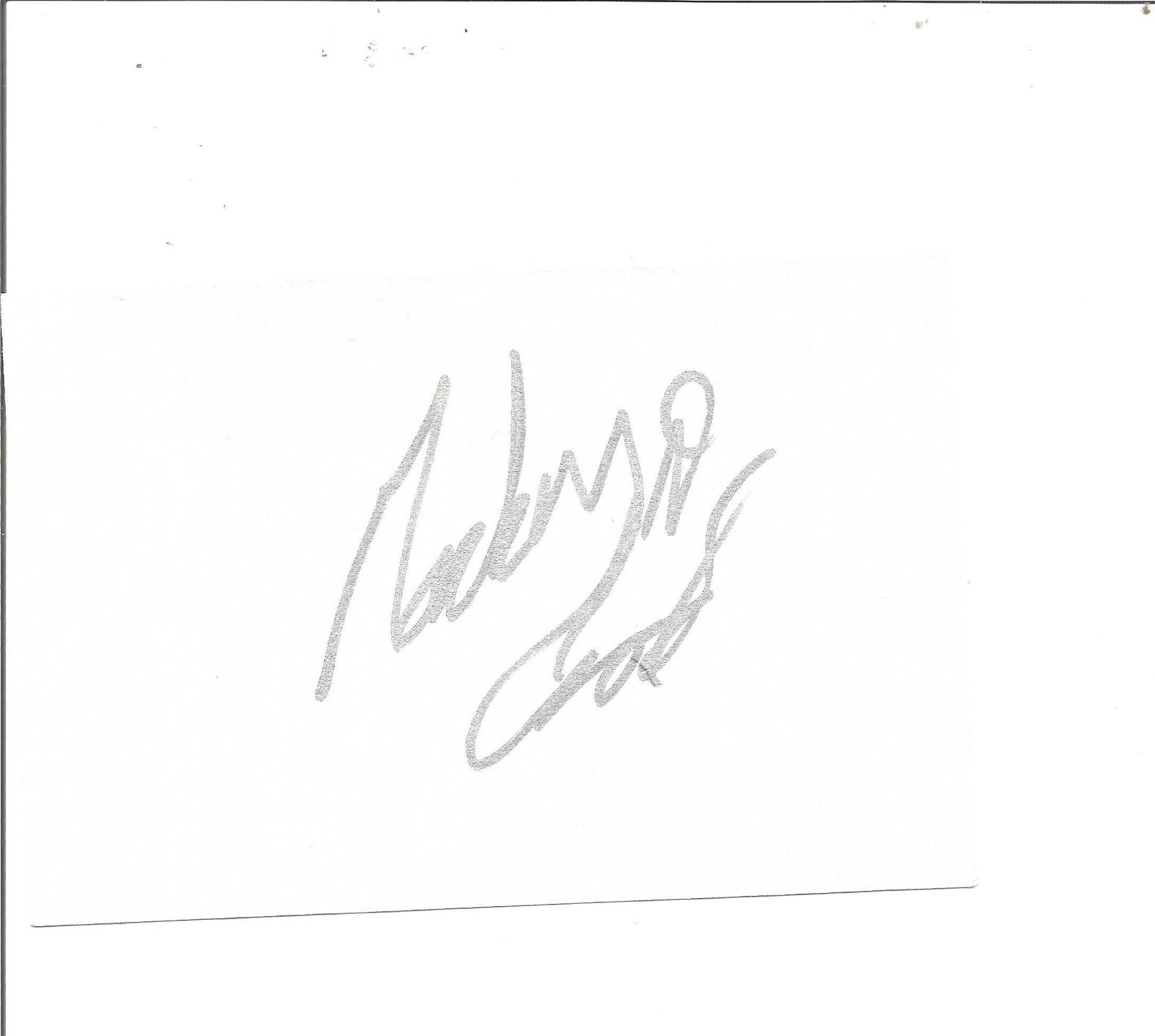 Mackenzie Crook signed white card. Good Condition. All