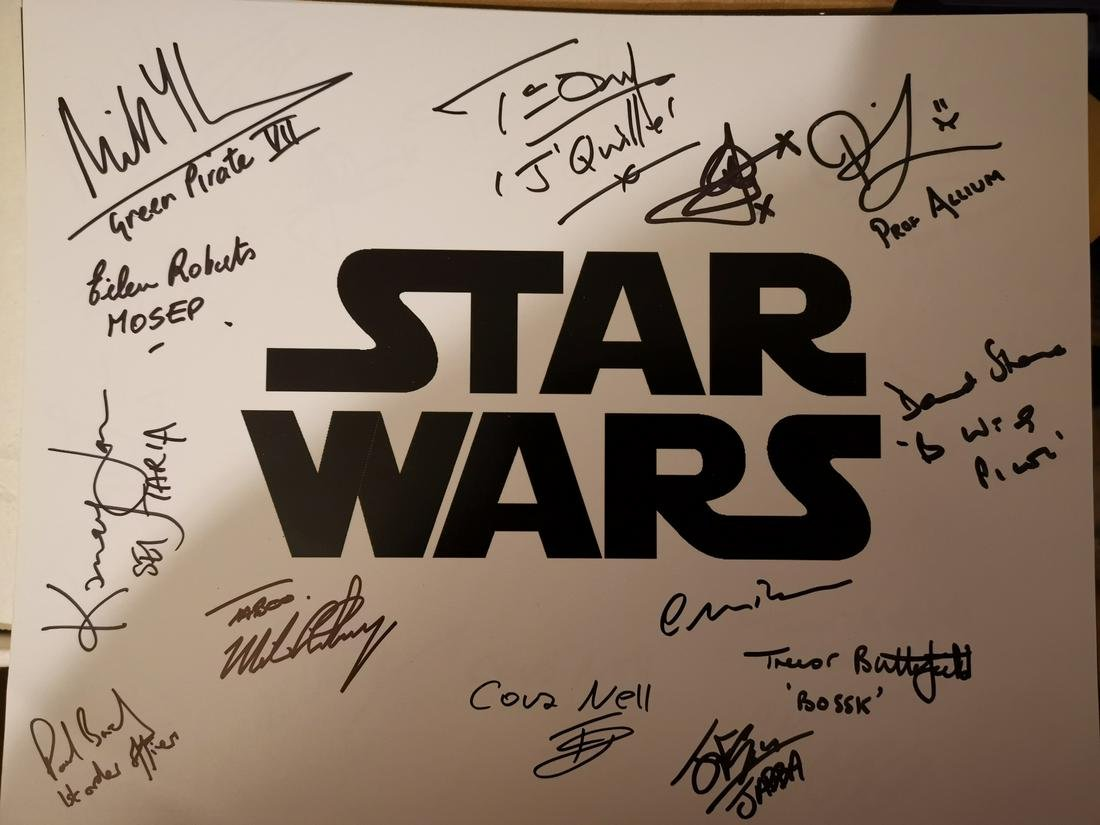 Star Wars cast signed 14x11 inch photo signed by