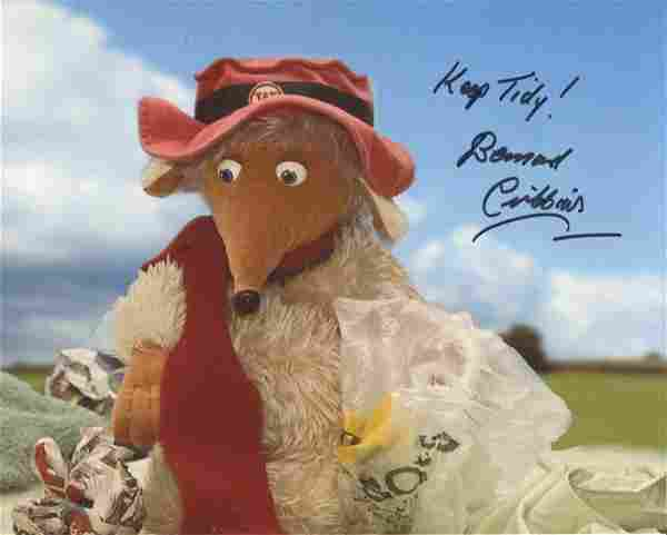 The Wombles. 8x10 photo signed by actor Bernard