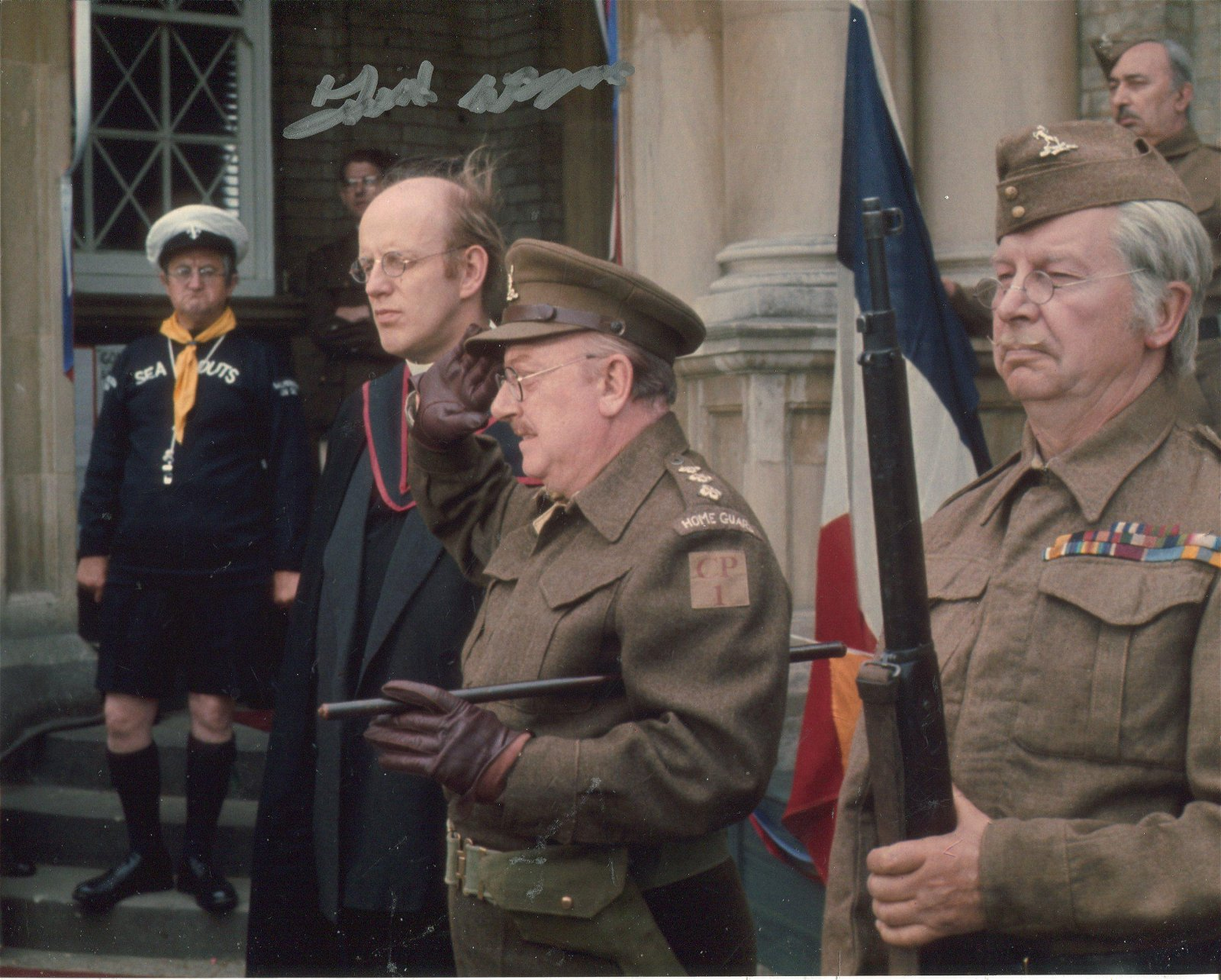 Dads Army. Actor Frank Williams as the Vicar signed