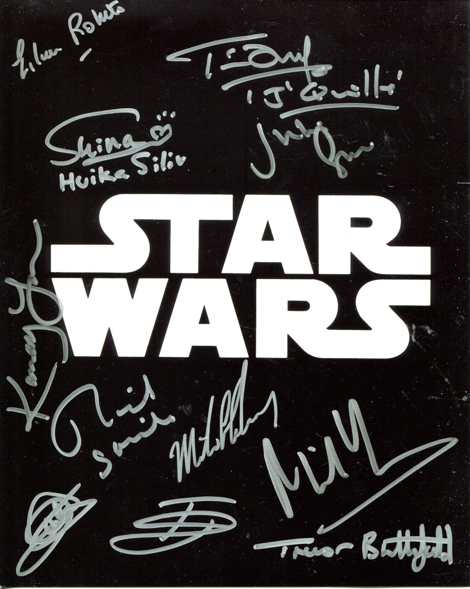 Star Wars multi signed 8x10 photo signed by ELEVEN