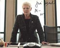 007 James Bond 8x10 photo signed by Dame Judi Dench as