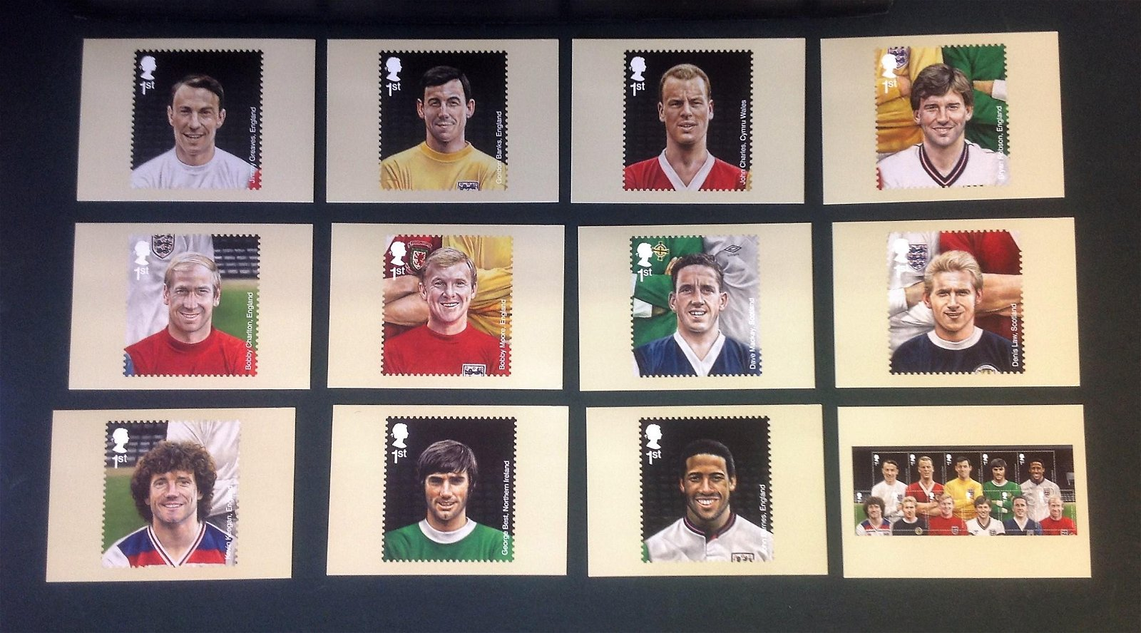 Football Legends PHQ Card collection 12 superb cards