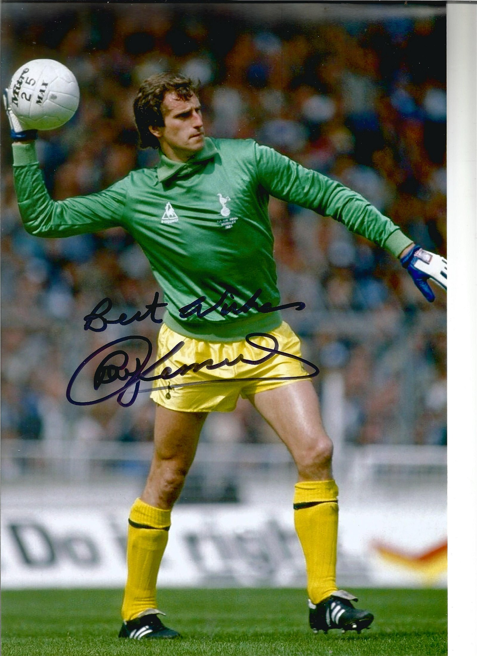 Football Ray Clemence signed 12x8 colour photo pictured