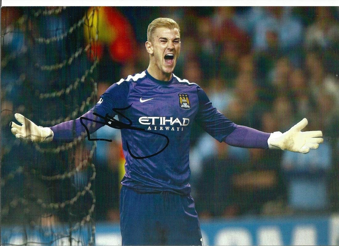 Football Joe Hart signed 12x8 colour photo pictured