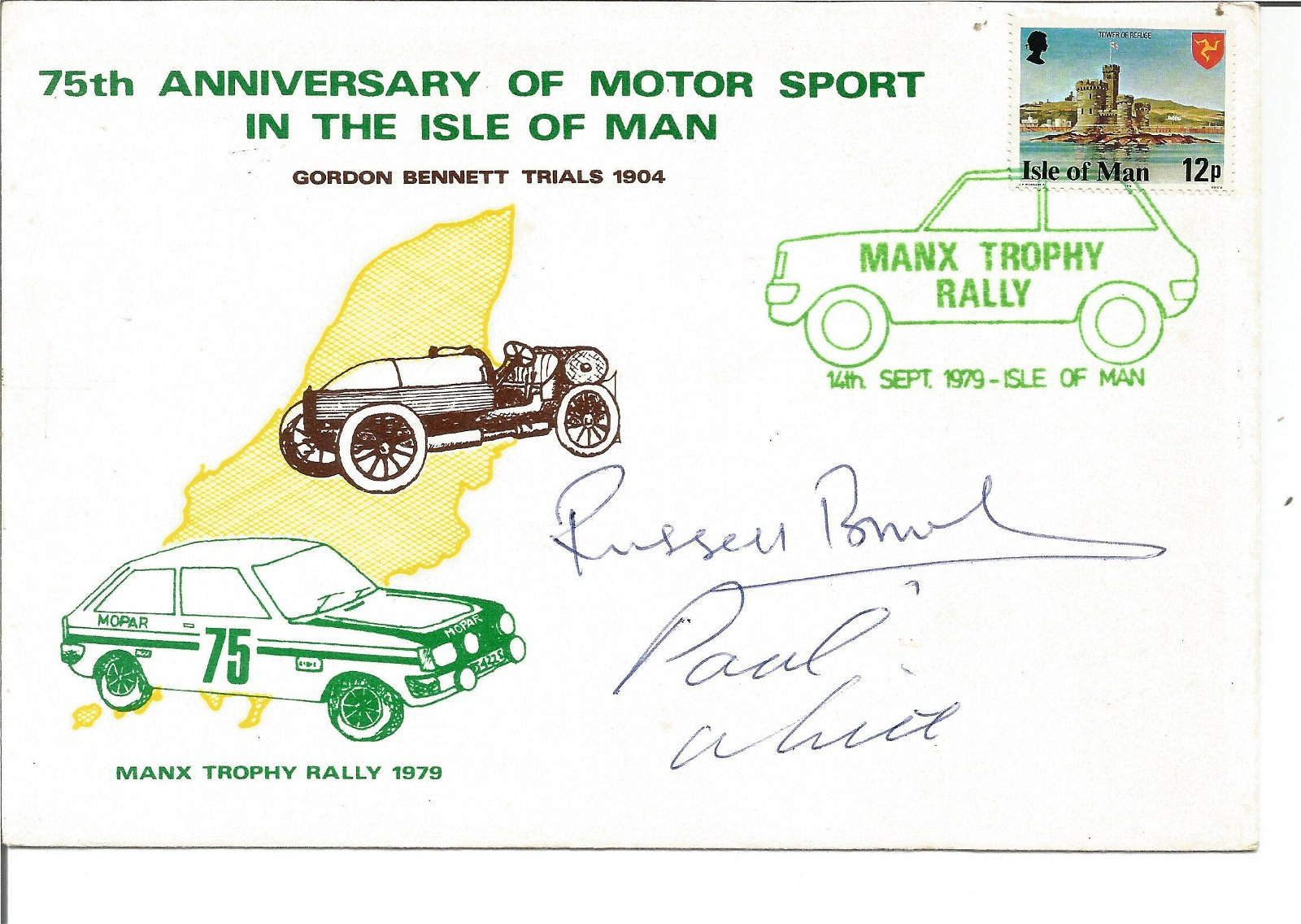 Motor Racing Russell Brooks and Paul White signed