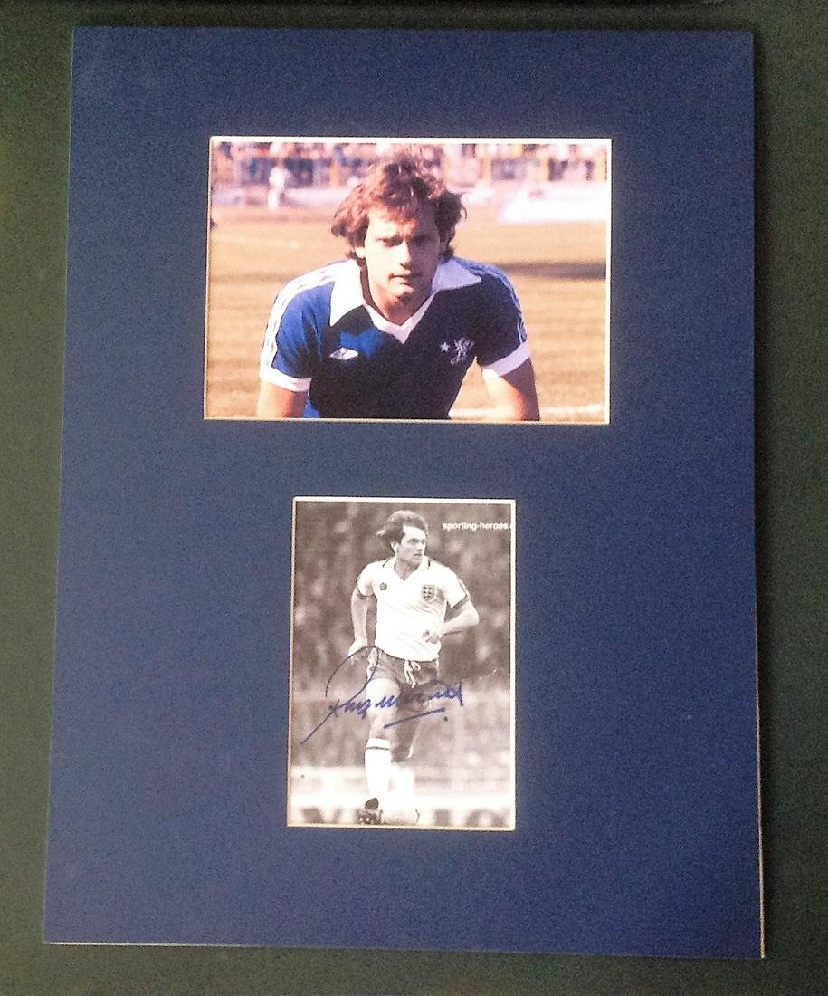 Football Ray Wilkins 16x12 mounted signature piece