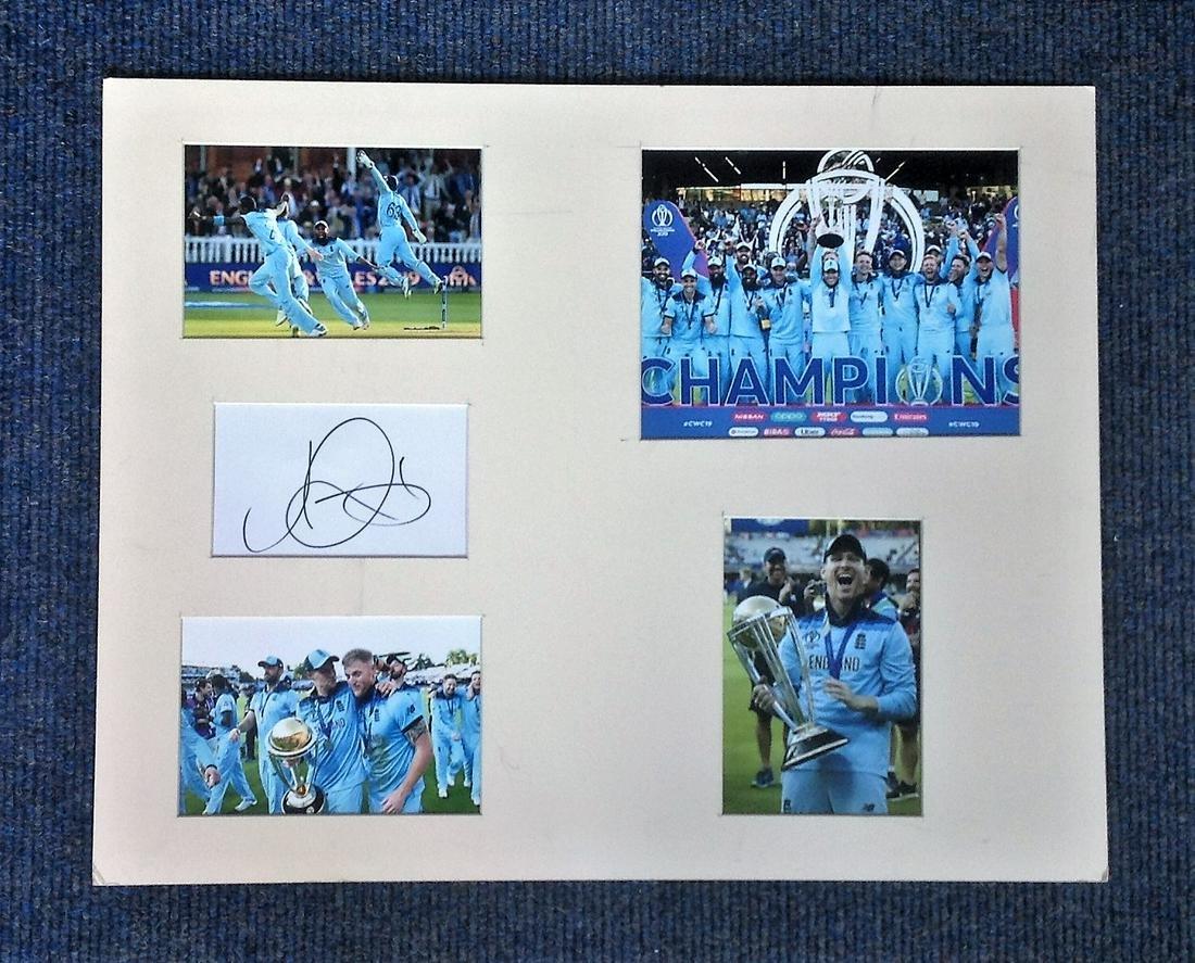 Cricket Jason Roy 20x16 mounted signature piece