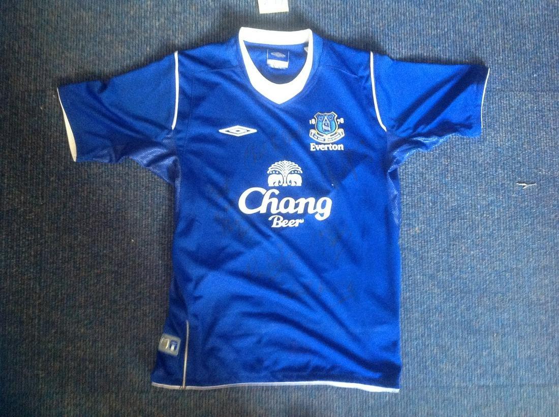 Football Everton Legends multi signed shirt 6
