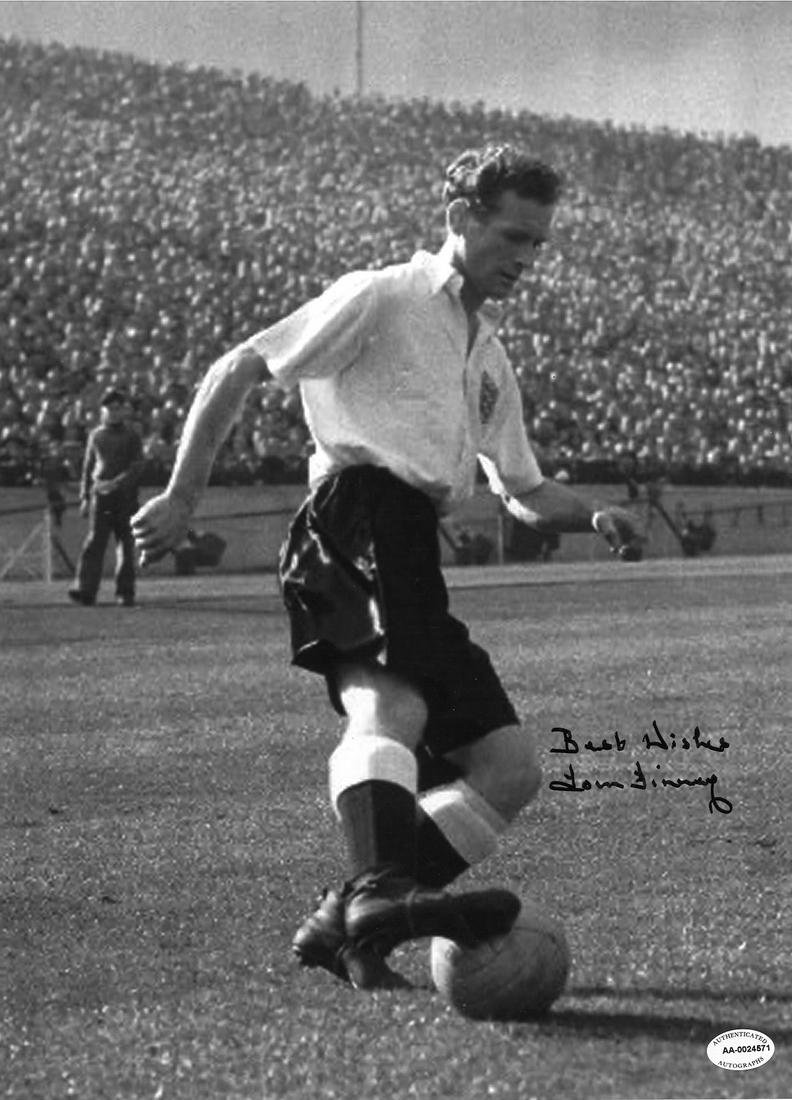 Football Tom Finney signed 16x12 black and white photo