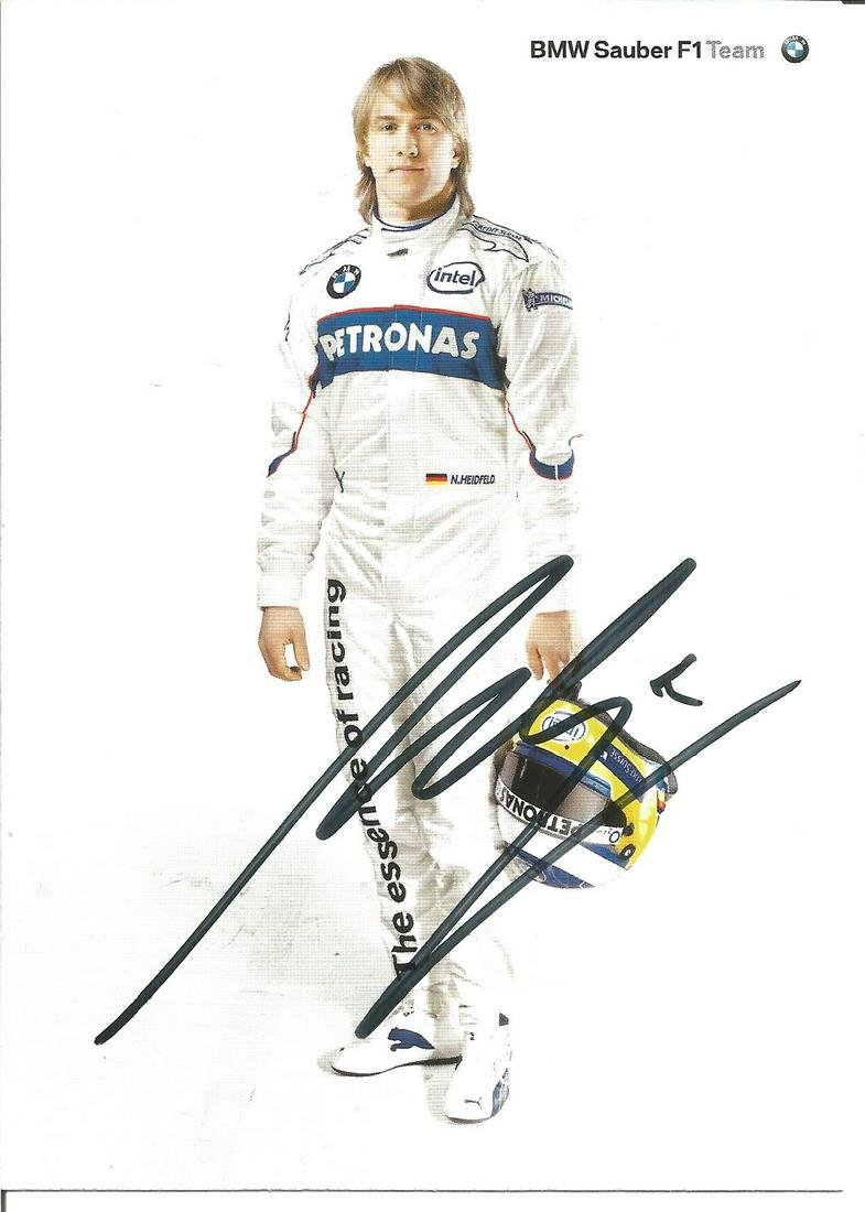 Motor Racing Nick Heidfeld signed 6x4 colour BMW Sauber