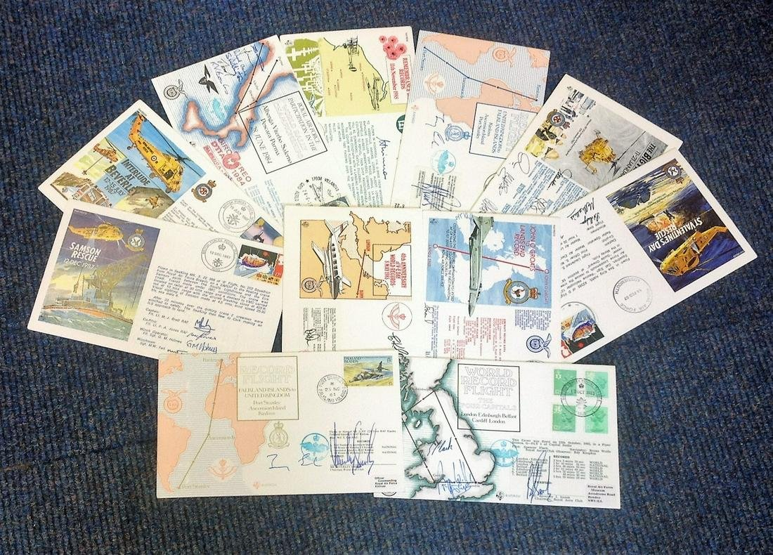 Aviation collection 11 signed flown FDCs dating back to