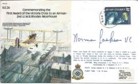 Norman Jackson VC signed 1985 WW2 bomber command series