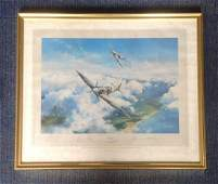 Battle of Britain 25x20 framed print titled Spitfire by