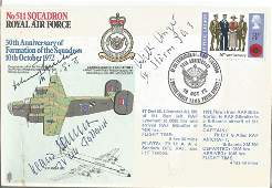 Multi signed Luftwaffe Aces World War Two cover No11