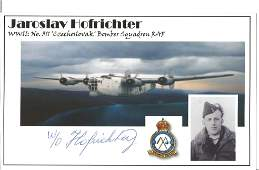 Jaroslav Hofrichter signed 6x4 World War II white card