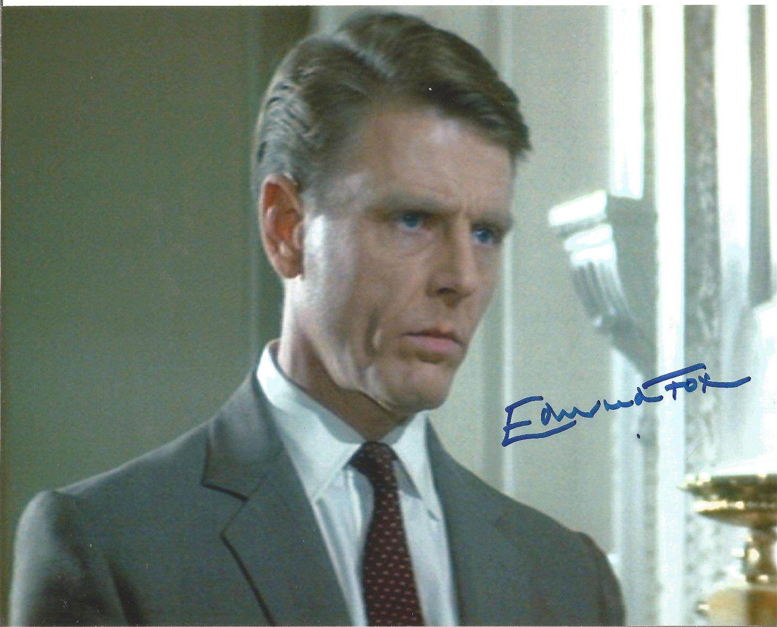 Edward Fox signed 10x8 colour photo. Good Condition.