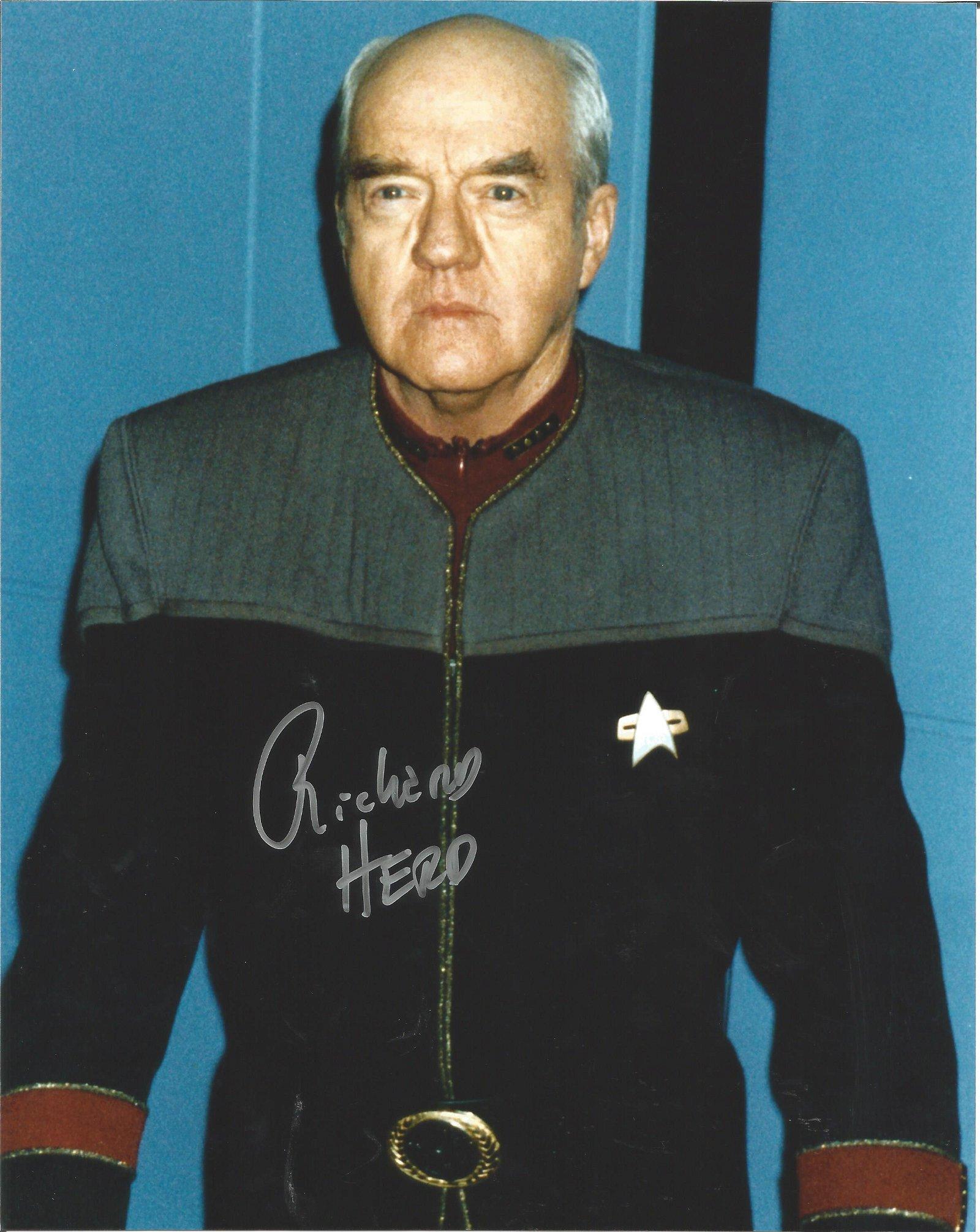 Richard Herd actor Star Trek signed authentic 10x8